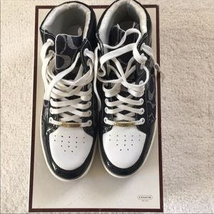 Never Worn Coach High Top Sneakers